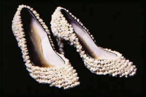 Lovely shoes made from teeth