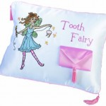 "Lillian Rose Tooth Fairy Embroidered Pillow, 12"" x 9"""